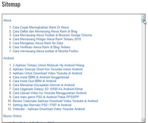 cara membuat halaman index html cara membuat index berita keren di blog blog manado