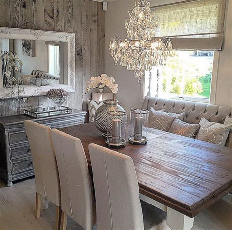 rustic glam home decor rustic glam dining space cool home decor inside out