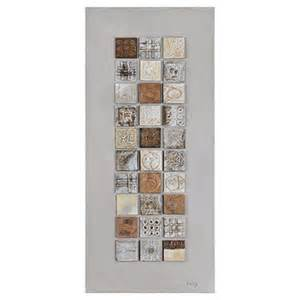 Vertical Wall Decor by Ren Wil W6091 Geometric Spice Ii Vertical Alternative Wall