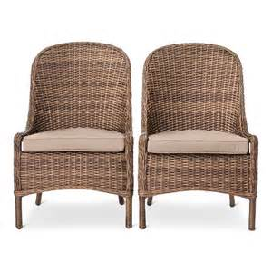 wicker outdoor dining chairs mayhew 2pk all weather wicker dining chair thr target