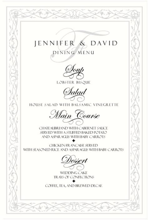 menu cards for wedding reception celtic wedding menu cards wedding products scottish wedding customs celtic wedding