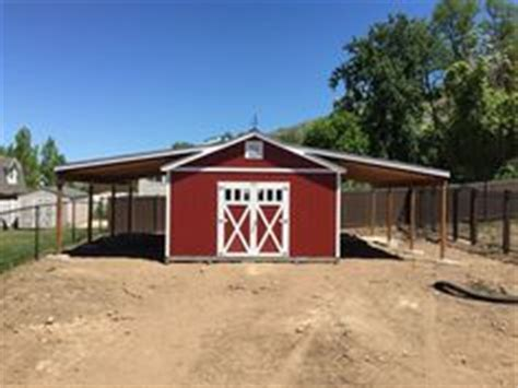 shed dog house combo barn loafing shed perfect for any ranch or farm country living pinterest