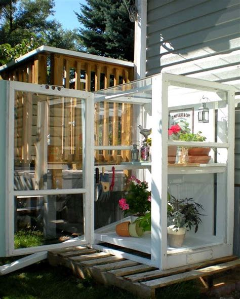build a backyard greenhouse 31 repurpose old windows to build a mini greenhouse
