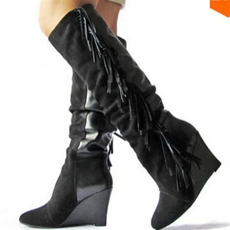 fringe boots cheap get cheap black fringe boots