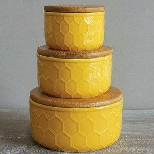 set of 3 sweet vintage honeycomb canisters gold ceramic canister ceramic canister sets ceramic
