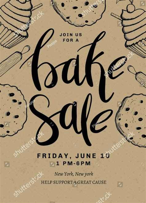 How To Make A Bake Sale Flyer