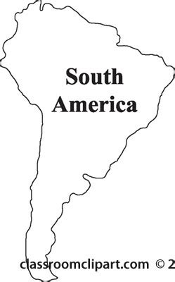 America South America Map Outline by South America Map Clipart 34
