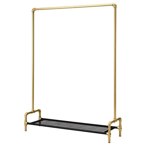hanger stand ikea omedelbar clothes rack black gold colour 125x36 cm ikea