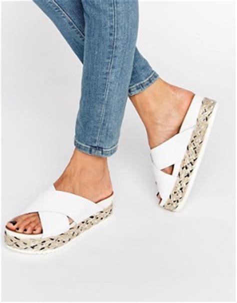 White Cath Flat Sling Back Sandals flat sandals gladiators leather gold sandals asos