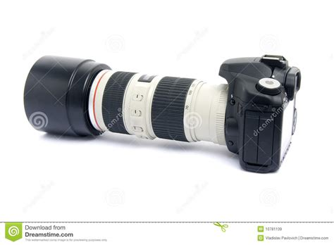 dslr zoom dslr with zoom lens royalty free stock images