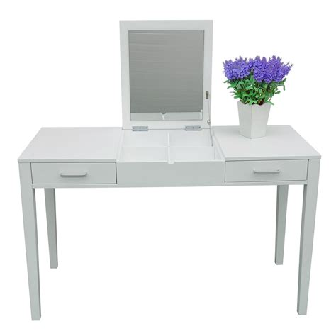 white vanity desk with mirror 47 quot l vanity makeup dressing table desk make up lift top
