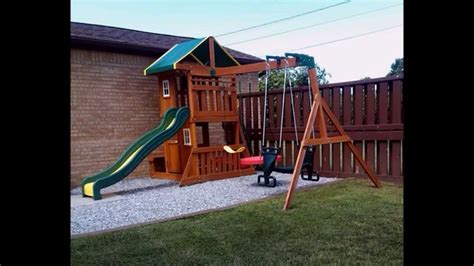 backyard swing set backyard discovery oakmont cedar swing set reversed