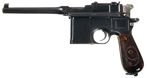 the broomhandle mauser weapon 1472816153 excellent mauser broomhandle red 9 pistol with shoulder stock pistol firearms auction lot 1893
