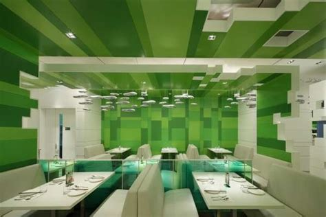 Interior Green by Green Hued Eatery Interiors P S Restaurant
