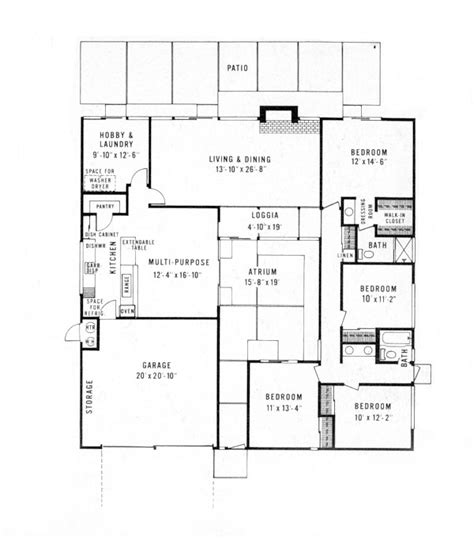 joseph eichler floor plans eichler home plans house design