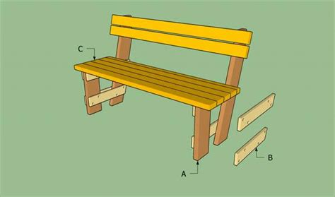 bench plans with back how to build pallet bench