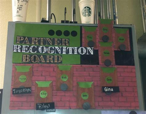starbucks partner green apron reward recognition board