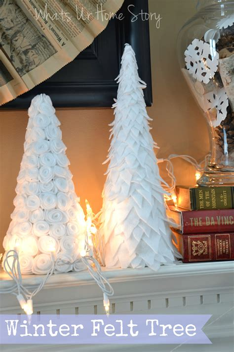 newspaper cone christmas trees diy winter felt tree
