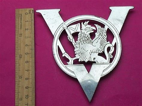 griffin vauxhall vintage vauxhall car badge emblem v griffin