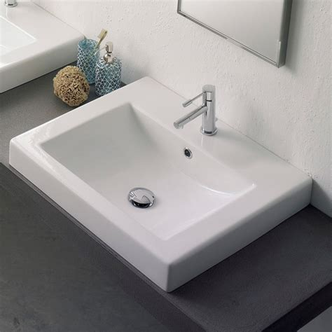 self rimming bathroom sinks square self rimming sink zuri furniture