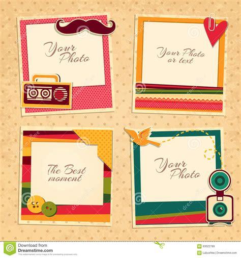 frame design for birthday birthday photo frame stock vector illustration of album