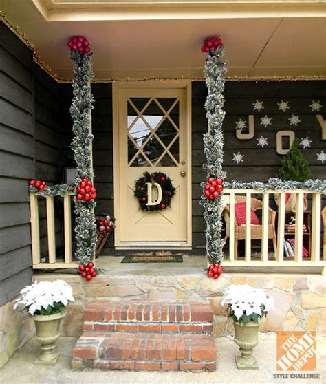 front porch christmas decor holiday porch decorating ideas tauni co