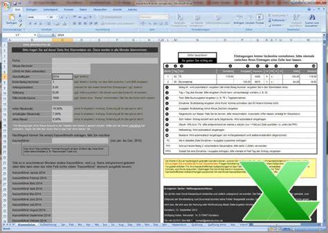 Word Vorlage In Excel Einfã Excel Kassenbuch Kassensturz Quittung Kostenlose Vorlage