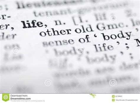 biography meaning in english life definition in english dictionary stock image