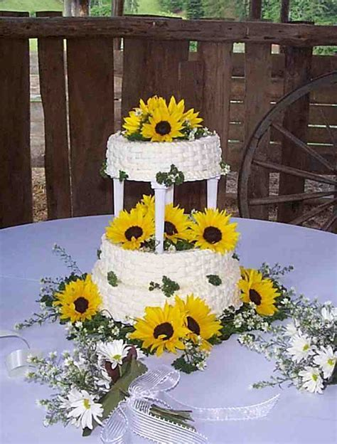 Wedding Cakes Pictures: Sunflower Wedding Cakes