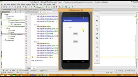 tutorial with android studio android text to speech tutorial android studio youtube