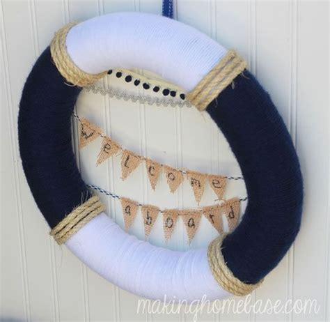 nautical decor wreath inspired by lunenburg nova scotia summer nautical wreath home nautical wreath and nautical