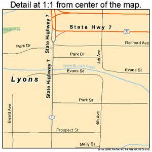 lyons colorado map 0847070