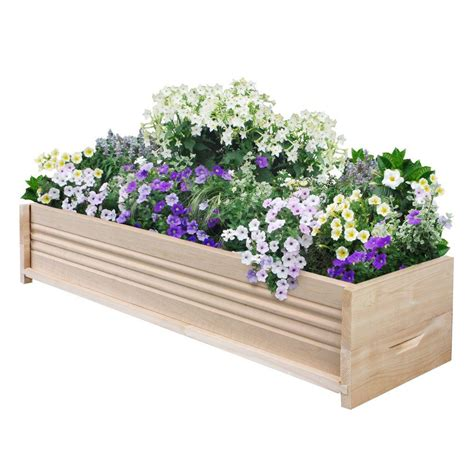 Fence Planters Home Depot by Greenes Fence 36 In L Cedar Planter Box Rcpb1236 The