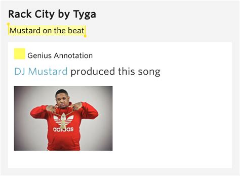 Rack City Meaning by Mustard On The Beat Rack City By Tyga