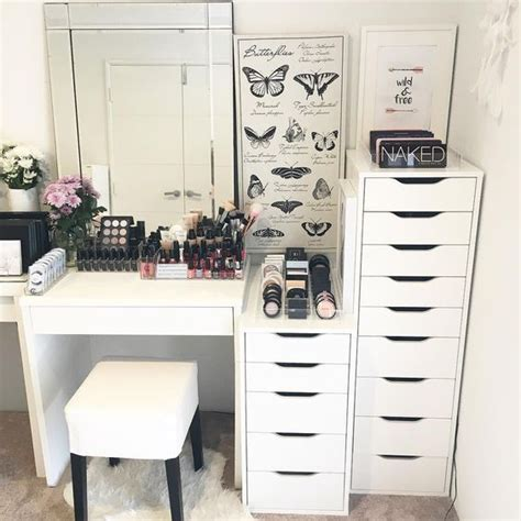 make up vanity badezimmer http makeupbag inspiration inredning