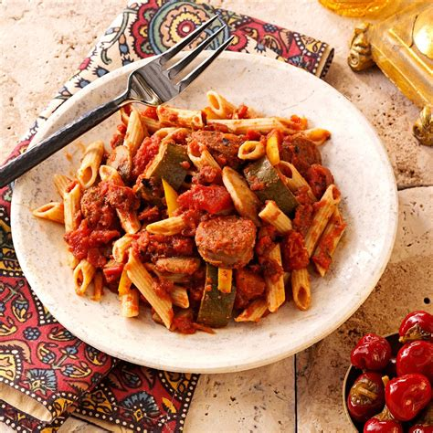 Todays Special Pasta With Sausage Basil And Mustard by Italian Sausage Marinara With Penne Recipe Taste Of Home