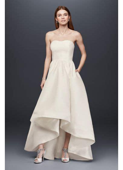 mikado high  wedding dress davids bridal