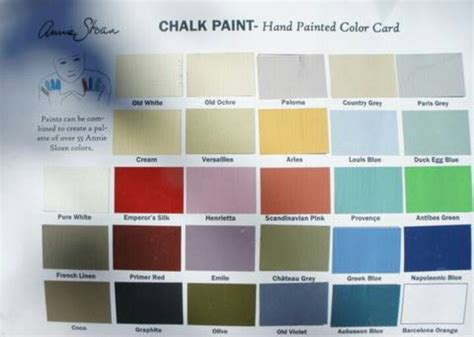 chalk paint color card painting furniture