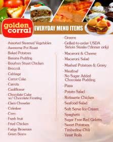 golden corral restaurant daily menu