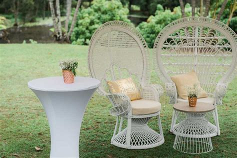 white peacock chair hire gold coast wedding styling the cobaki lakes