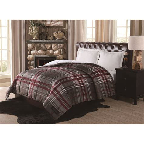 floor bedding bedroom remington supreme velvet green plaid comforter