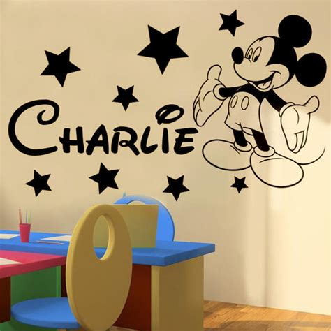 mickey mickey mouse personalised name boys bedroom wall