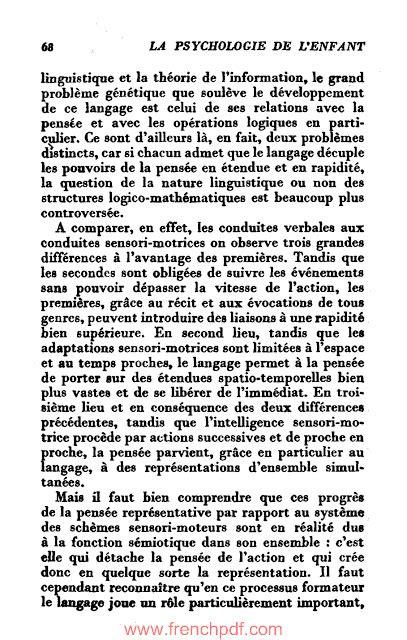 La Psychologie De L'enfant Par Jean Piaget Livre Gratuit