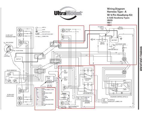 western ultramount plow lights wiring diagram wiring