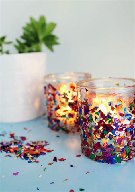 candle craft for confetti candle holders