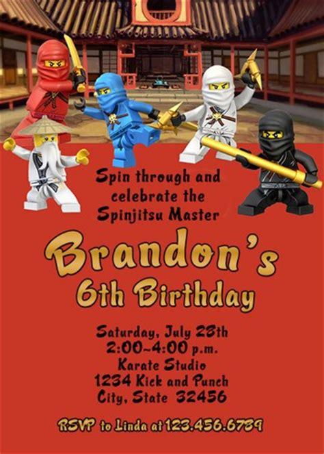 ninjago birthday card template birthday invites ninjago birthday invitations