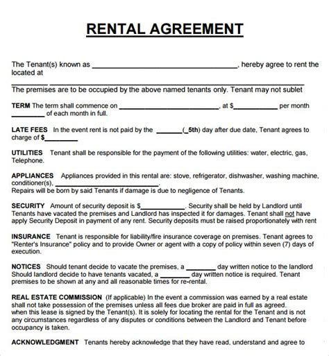 real estate lease agreement template 124 best images about rental agreement on real