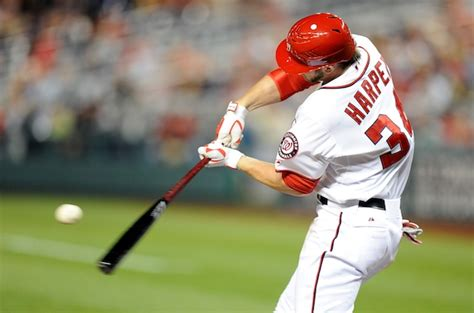 harper swing bryce harper is probably not going back to the minors