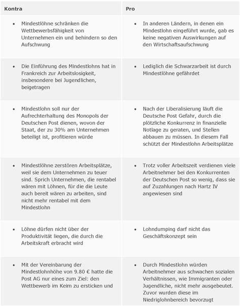 mindestlohn deutschland tabelle thema mindestlohn pro kontra anstageslicht de