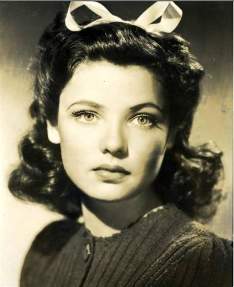hairstyle for overbite picture of gene tierney